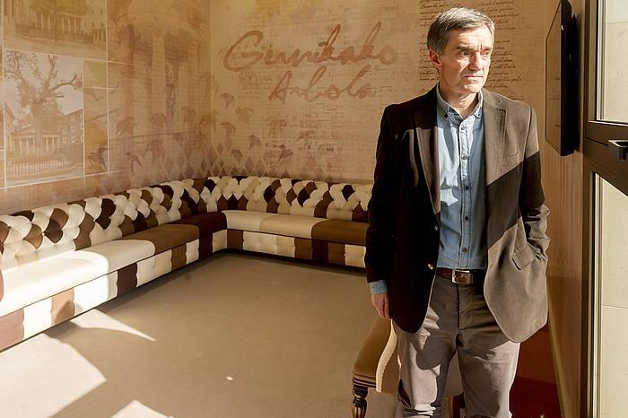 Jonan Fernandez, joan den asteazkenean, Gasteizen, Lehendakaritzan, BERRIAko elkarrizketan. ©Juanan Ruiz, Argazki Press