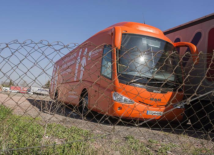 Kanpainako autobusa, Madrilen. /