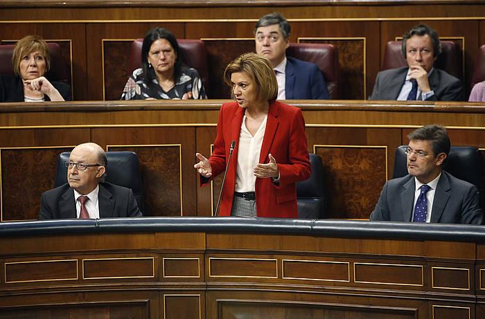 Cospedal, gaur Espainiako Diputatuen Kongresuan.