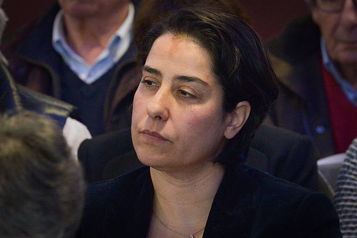 Frederique Espagnac, senatari sozialista, artxiboko irudibatean. / ©Isabelle Miquelestorena