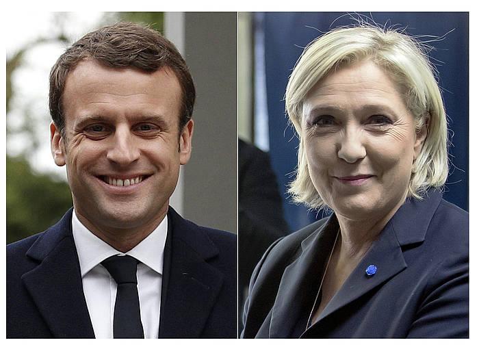 Macron eta Le Pen. /