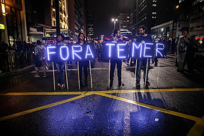 Protestak Brasilgo kaleetan. /