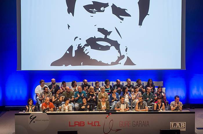 Rafa Diezen irudia, LABen kongresuan. ©Luis Jauregialtzo / Argazki Press