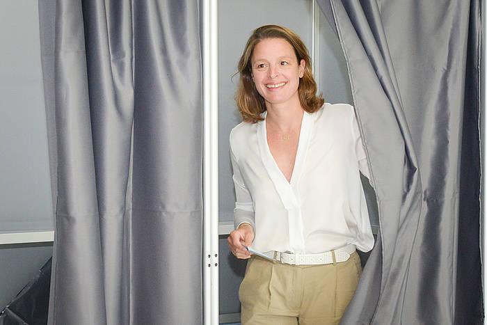 Martxan alderdiko Florence Lasserre-David izan da garaile 5. hautesbarrutian. /