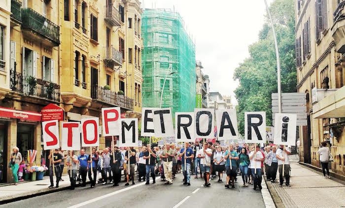 Metroaren aurkako protesta. /