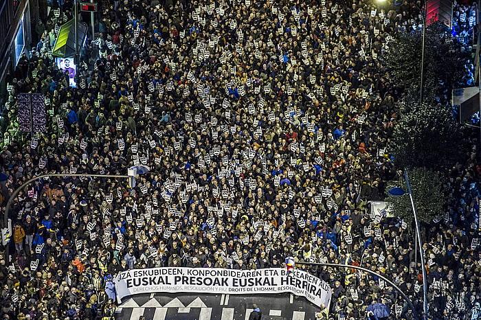 Euskal presoen alde Bilbon egindako manifestazioa, Sarek deituta. / ©Marisol Ramirez, Argazki Press