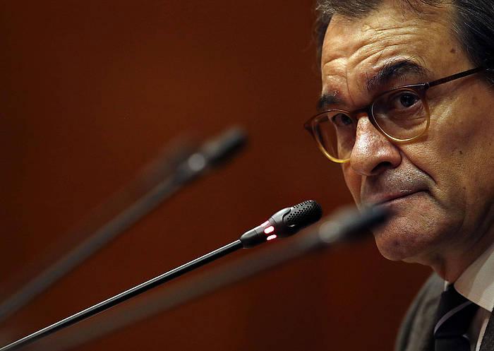 Artur Mas presidente ohia, artxiboko argazki batean. / ©Alberto Estevez, EFE