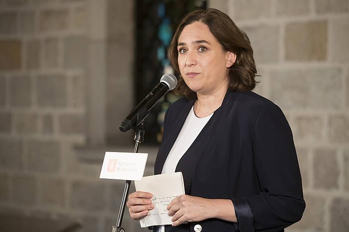 Ada Colau, artxiboko irudi batean. / ©Marta Perez, EFE