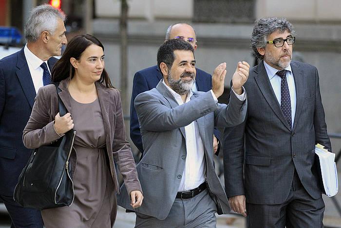 Jordi Sanchez ANCko presidentea, gaur, Auzitegi Nazionalera bidean. /