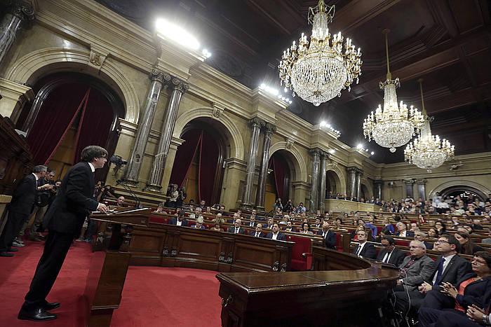 Puigdemont Generalitatean, gaur. /
