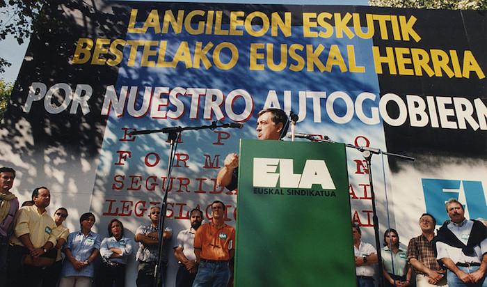 Joxe Elorrieta ELAko idazkari nagusi ohia, Gernika-Lumon, 1997ko urriaren 18an. / ©Berria