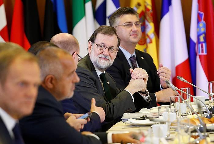Mariano Rajoy Espainiako presidentea gaur, Europako goi-bileran Bruselan. / ©JULIEN WARNAND, EFE