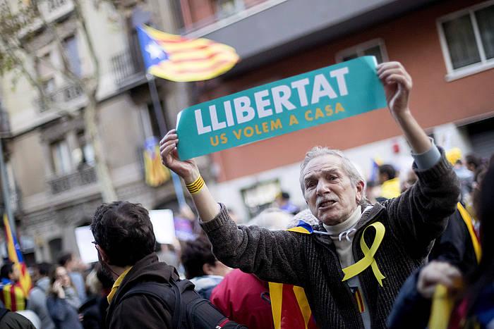 Joan den larunbateko manifestazioa, Bartzelonan.