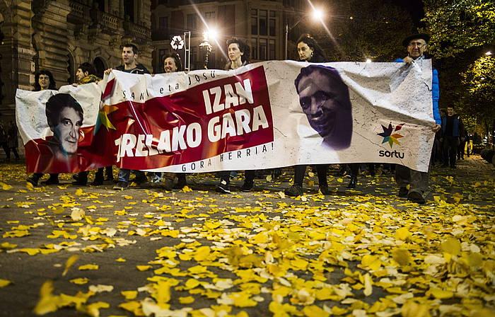 Sortuk iaz Bilbon egin zuen manifestazioa. / ©Marisol Ramirez, Argazki Press