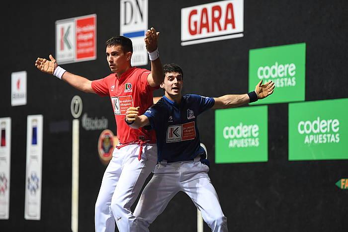 Altuna eta Urrutikoetxearen arteko finalaren une bat. / ©Jon Urbe, Argazki Press