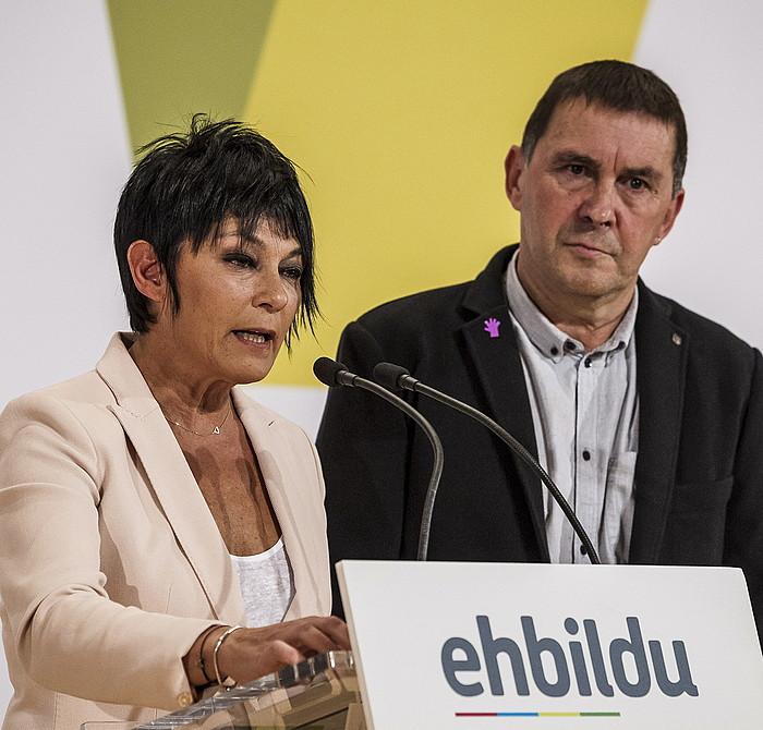 Maddalen Iriarte eta Arnaldo Otegi. ©Aritz Loiola / Argazki Press