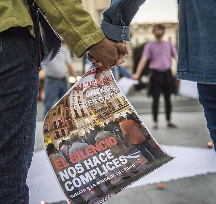 Indarkeria matxistaren aurka, artxiboko irudi batean. ©/ Marisol Ramirez, Argazki Press