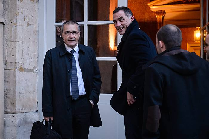 Jean-Guy Talamoni eta Gilles Simeoni Korsikako erakunde gorenetako buruak. / ©CHRISTOPHE PETIT TESSON / EFE