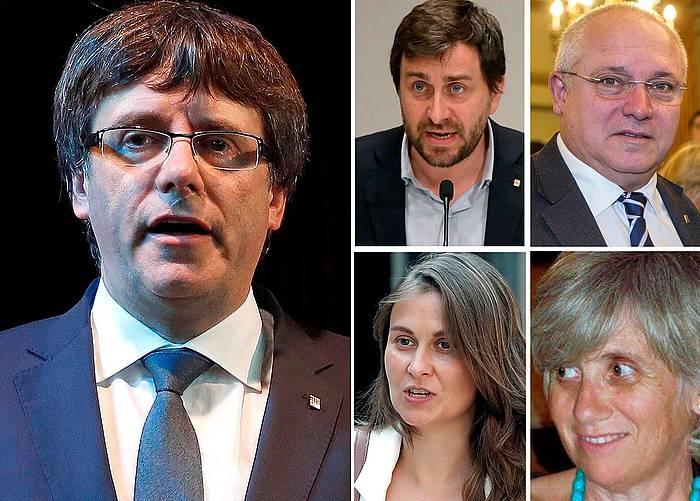 Puigdemont eta Bruselan dauden lau kontseilariak. / ©EFE