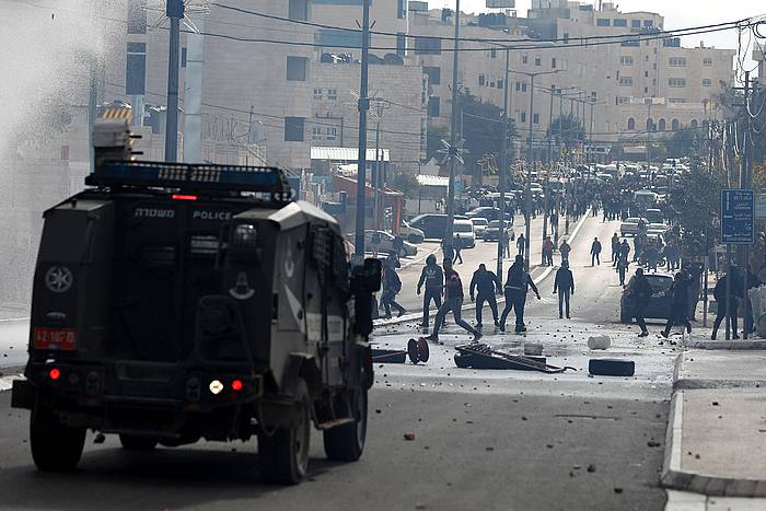 Soldadu israeldarrak Belenen, Zisjordanian. /