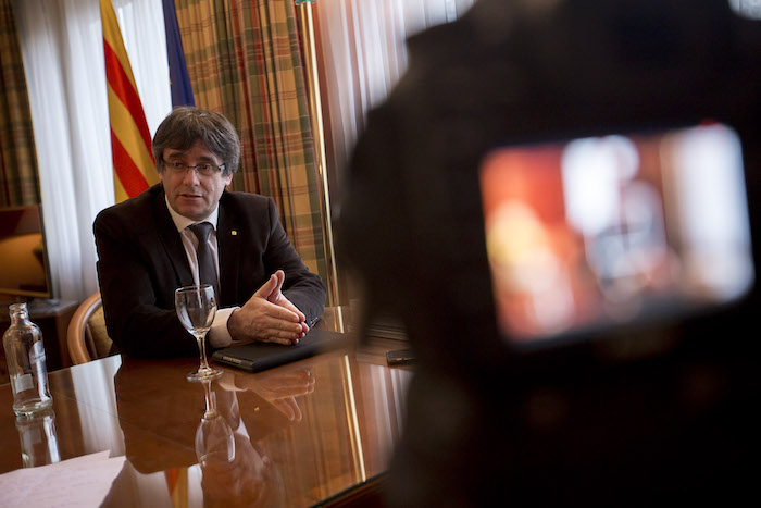 Carles Puigdemont, Bruselan. / ©Vilaweb