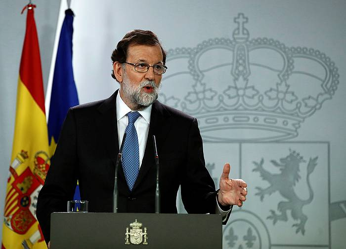 Rajoy, Moncloan, artxiboko irudi batean. /