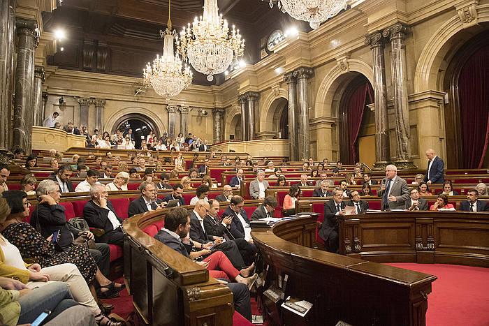 Kataluniako Parlamentuko osoko bilkura saioa, joan den irailaren 6an. / ©Marta Perez, EFE