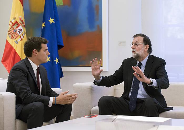 Rajoy eta Rivera, Moncloan, urrian egindako bilera batean. / ©Luca Piergiovanni, Efe