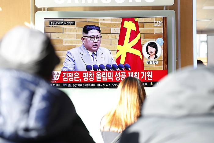Kim Jong-un urte berriko mezua ematen. /