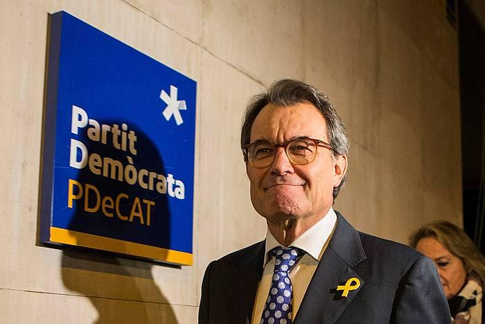 Artur Mas PDeCateko presidente ohia, kargua utzi zuela iragartzeko agerraldian, joan den asteartean, Bartzelonan. / ©Quique Garcia, EFE