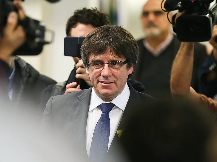 Carles Puigdemont Kataluniako presidentegaia, Bruselan, artxiboko irudi batean. /