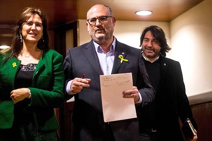 Junts per Catalunyako bozeramaile Eduard Pujol, joan den ostiralean. /