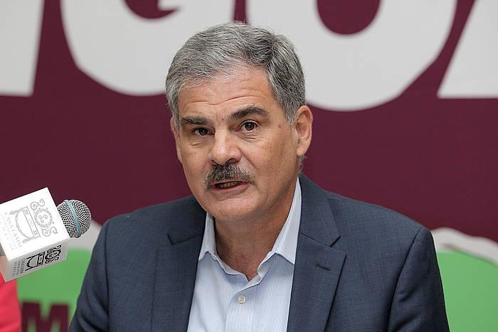 Juan Alberto Fuentes Oxfam Internationaleko presidentea, hitzaldi batean, Mexikon. Artxiboko irudia. /