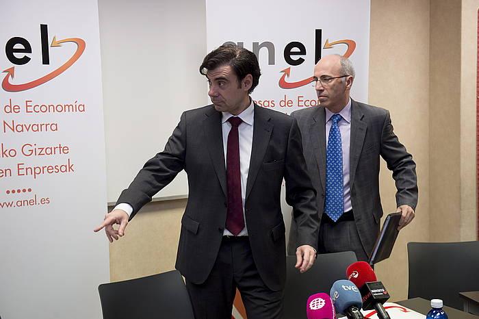 Ignacio Ugalde ANELeko presidentea eta Antonio Martinez de Bujanda gerentea.