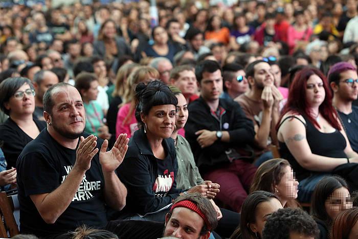 David Fernandez eta Anna Gabrel, artxiboko irudi batean. / ©Toni Albir / EFE