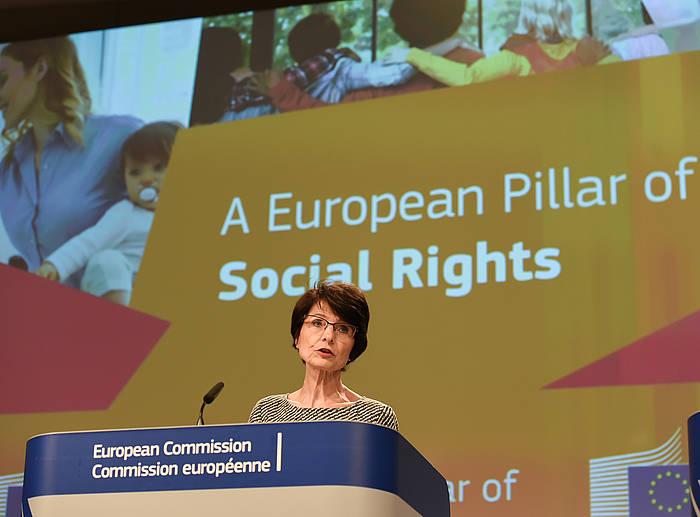 Marianne Thyssen komisarioa, artxiboko argazki batean. ©JENNIFER JACQUEMART / EFE