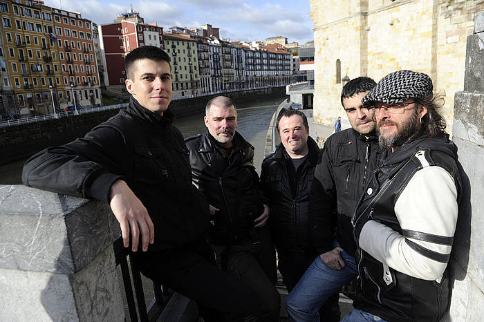 Taldeko kideak diskoaren aurkezpenean. / ©Marisol Ramirez, Argazki Press