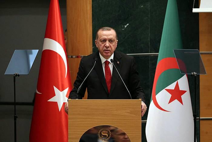 Recep Tayyip Erdogan presidentea. /