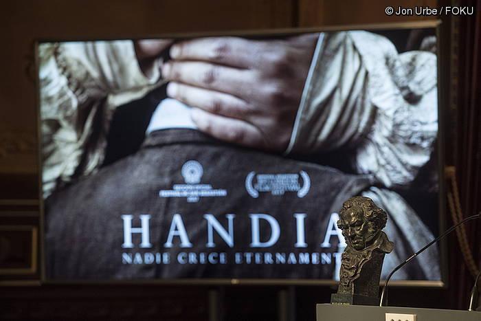 'Handia' filmak hamar Goya jaso zituen
