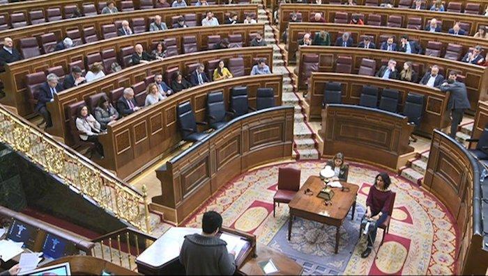 Marian Beitialarrangoitia, Espainiako Kongresuan. /