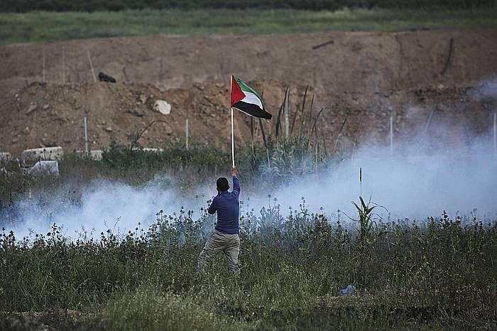 Liskarrak izan dira gaur ere Gazako mugan. /
