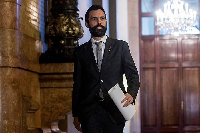 Roger Torrent, Kataluniako Parlamentuko korridoreetan. Artxiboko irudia. / ©Quique Garcia, EFE