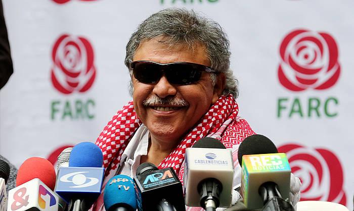 'Jesus Santrich' FARC talde armatu ohiko buruzagi izandakoa, artxiboko irudi batean. /