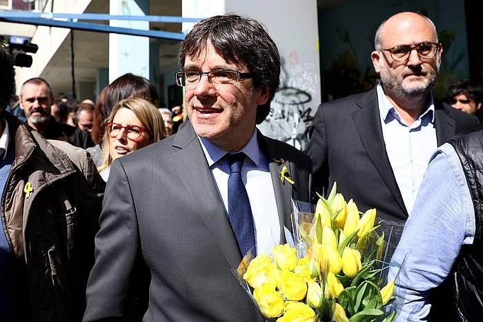 Carles Puigdemont Kataluniako presidente kargugabetua, joan den apirilaren 7an, Berlinen. / ©Omer Messinger, EFE
