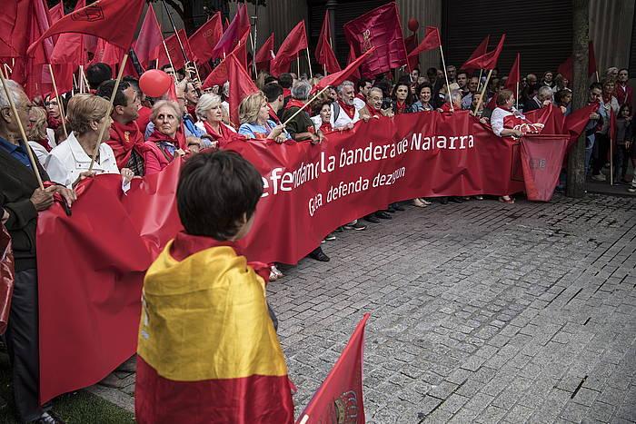Iaz banderen harira egindako manifestazioa. ©Jagoba Manterola, Foku