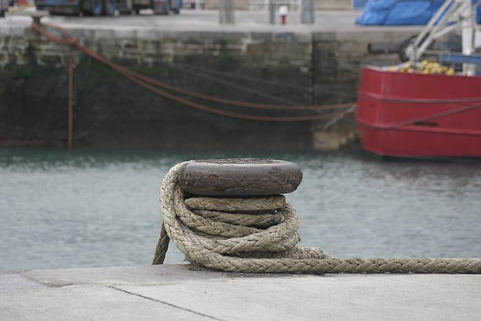 Getariako portua artxiboko irudi batean. ©MIKEL AGIRRE