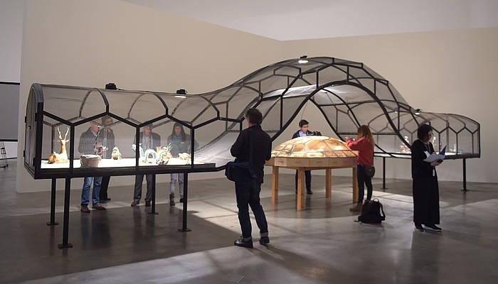 Bilboko Gugenheim museoan Txinako arari eskaini dioten erakusketako irudi bat