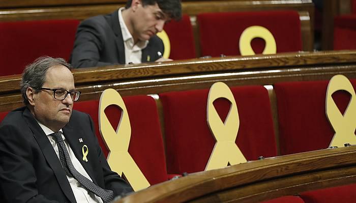 Quim Torra, Kataluniako Generalitateko presidentea. /