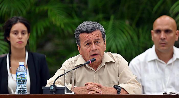 Pablo Beltran ELNren negoziatzailea, bake elkarrizketetan Habanan. / ©Alejandro Ernetesto, EFE