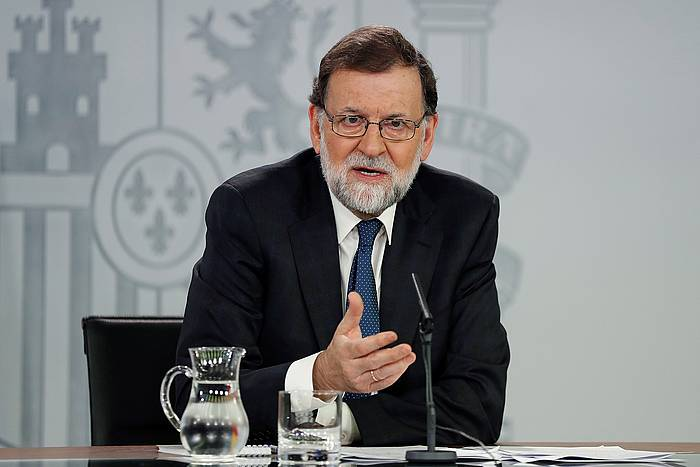 Rajoy, gaur, prentsaren aurrean. ©Chema Moya, Efe